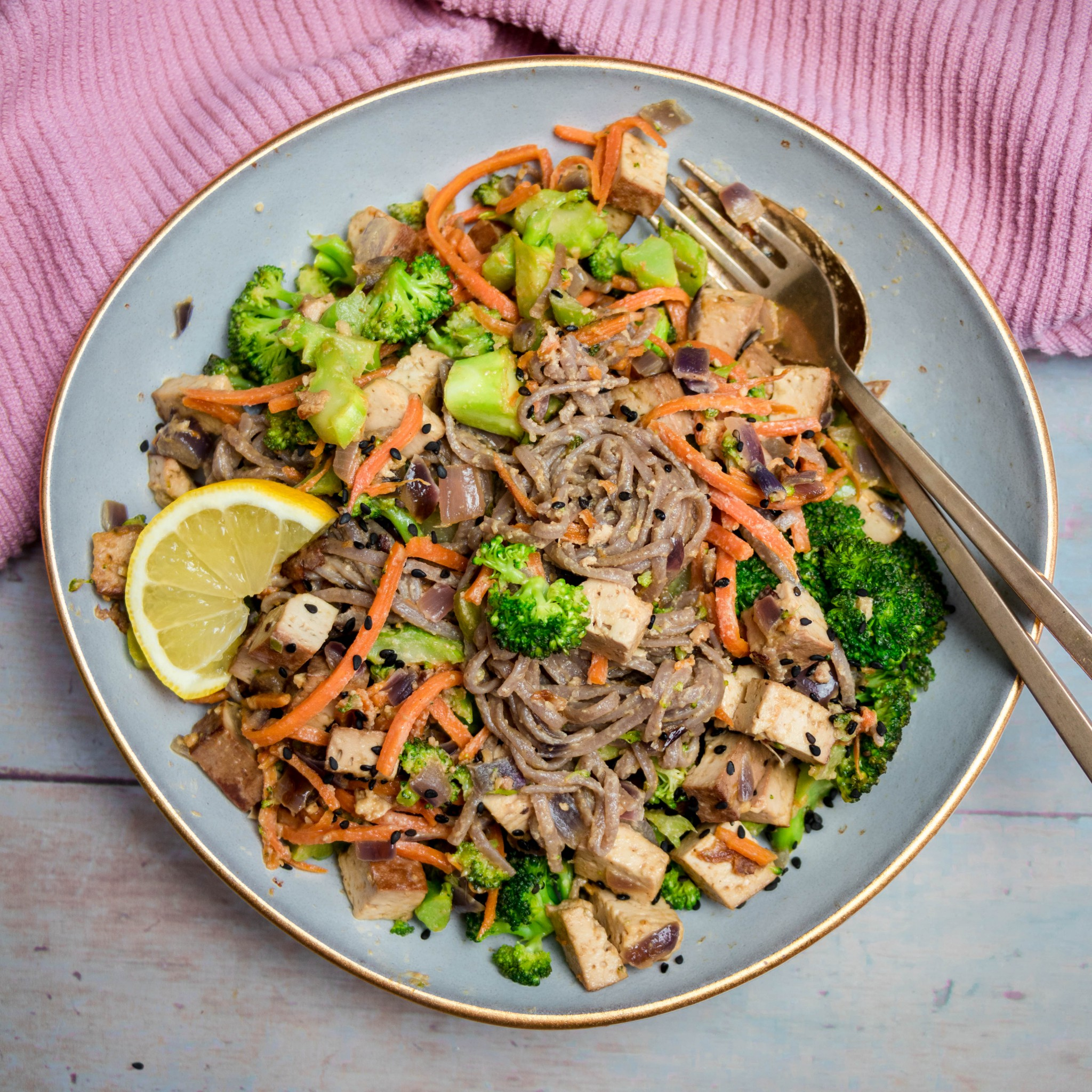 Tahini Buckwheat Noodles