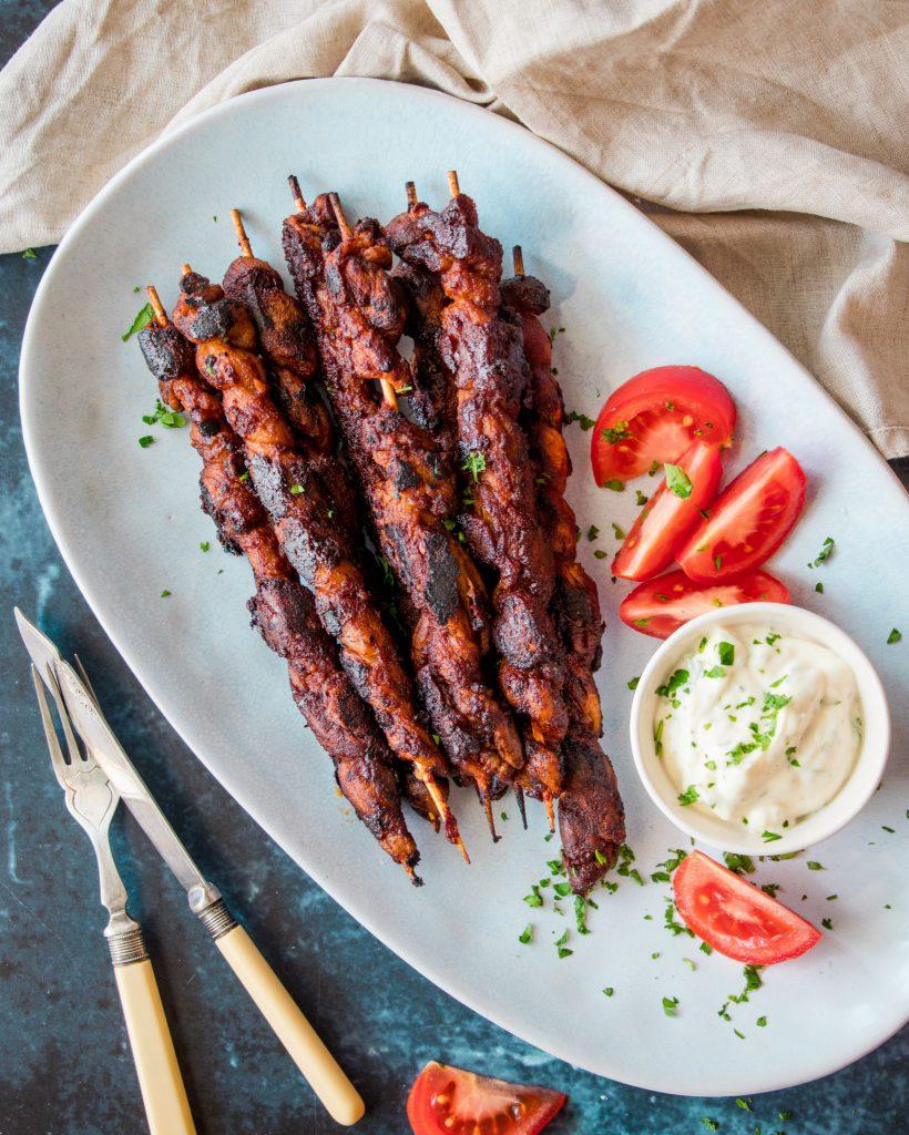 Vegan Meaty BBQ Skewers
