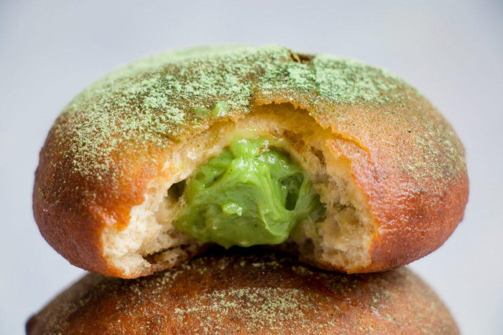 Matcha Filled Doughnuts/Sufganiyot