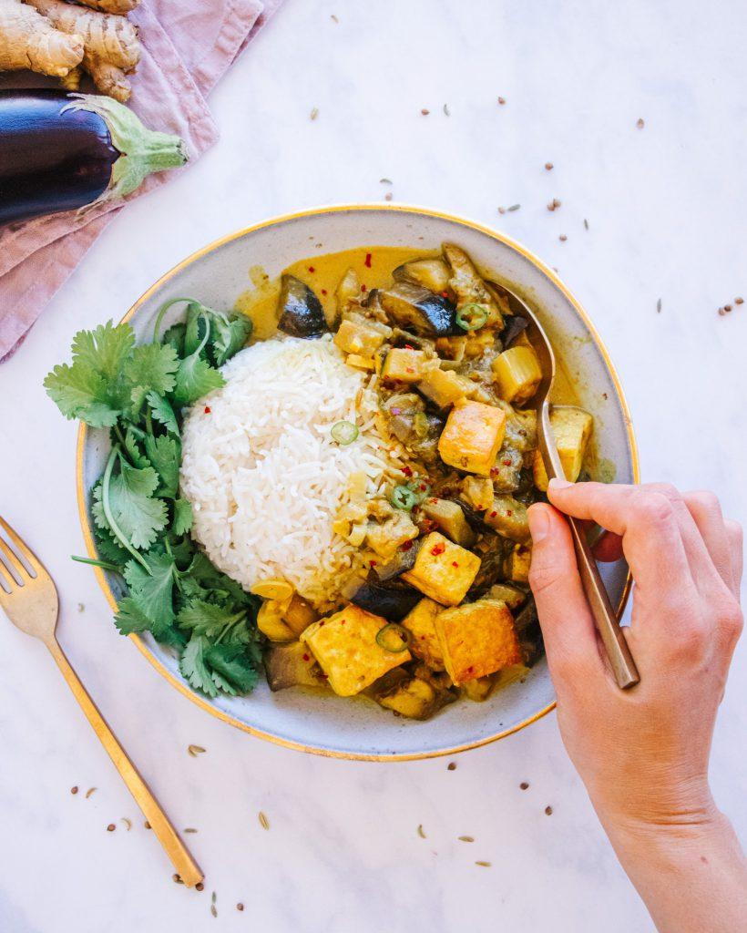 Eggplant Tofu Curry